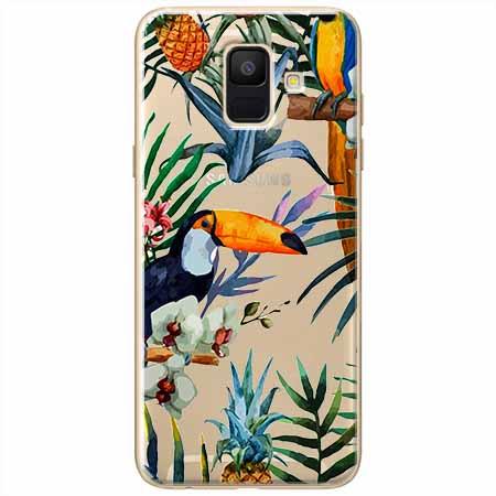 Etui na Samsung Galaxy A8 2018 - Egzotyczne tukany.