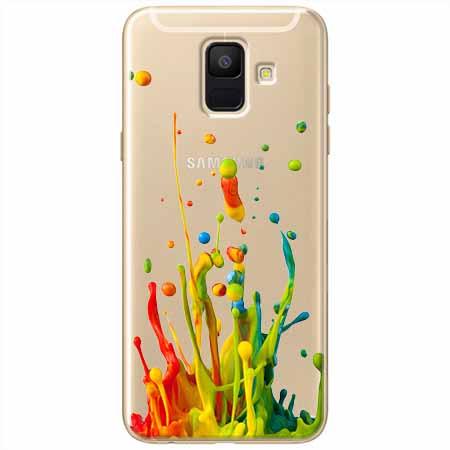 Etui na Samsung Galaxy A8 2018 - Kolorowy splash.