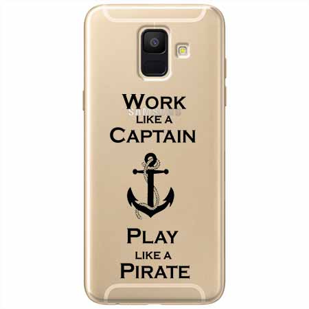 Etui na Samsung Galaxy A8 2018 - Work like a Captain…