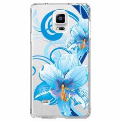 Etui na Samsung Galaxy Note 4 - Niebieski kwiat północy.