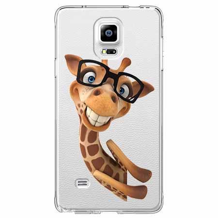 Etui na Samsung Galaxy Note 4 - Wesoła żyrafa w okularach.