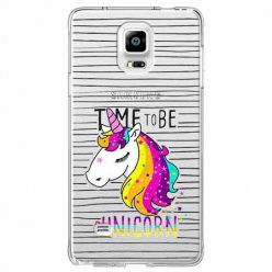 Etui na Samsung Galaxy Note 4 - Time to be unicorn - Jednorożec.