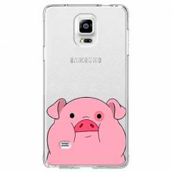 Etui na Samsung Galaxy Note 4 - Słodka różowa świnka.