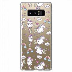 Etui na Samsung Galaxy Note 8 - Tęczowe jednorożce.