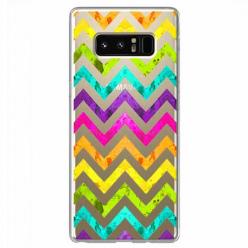 Etui na Samsung Galaxy Note 8 - Tęczowy przeplataniec.