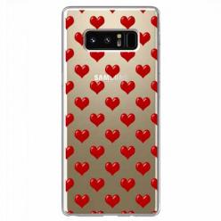 Etui na Samsung Galaxy Note 8 - Czerwone serduszka.