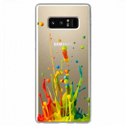Etui na Samsung Galaxy Note 8 - Kolorowy splash.