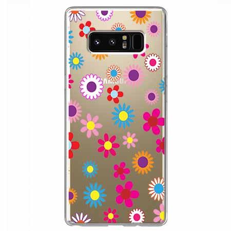 Etui na Samsung Galaxy Note 8 - Kolorowe stokrotki.