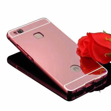 Etui na Huawei P9 Lite Mirror bumper case - Różowy.