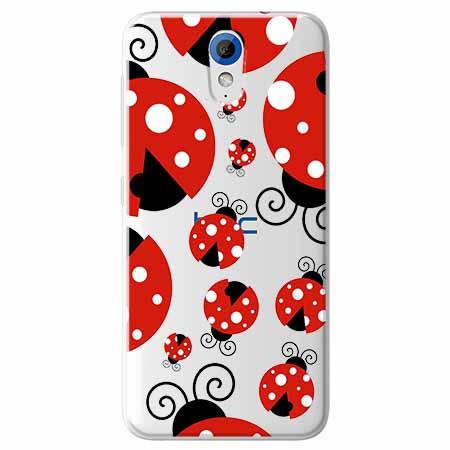 Etui na HTC Desire 620 - Czerwone wesołe biedronki.