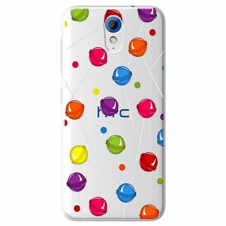 Etui na HTC Desire 620 - Kolorowe lizaki.