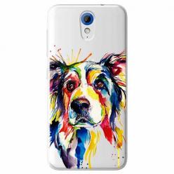 Etui na HTC Desire 620 - Watercolor pies.