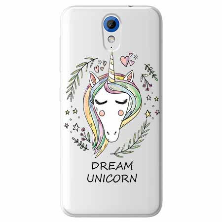 Etui na HTC Desire 620 - Dream unicorn - Jednorożec.
