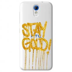 Etui na HTC Desire 620 - Stay Gold.