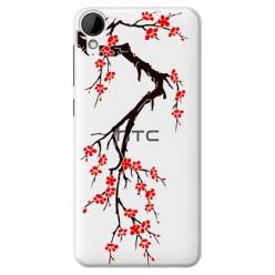 Etui na HTC Desire 825 - Krzew kwitnącej wiśni.
