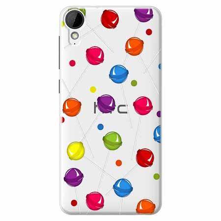 Etui na HTC Desire 825 - Kolorowe lizaki.
