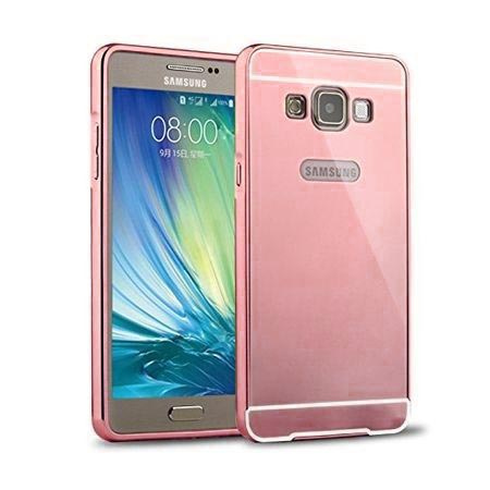 Mirror bumper case na Galaxy J5 2016r - Różowy