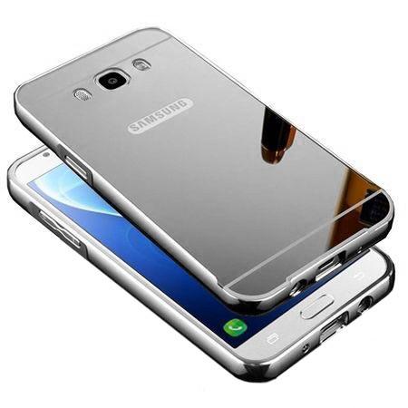 Mirror bumper case na Galaxy J7 2016r - Srebrny