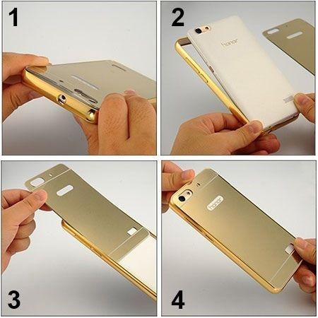 Bumper case na iPhone 6 / 6s - niebieski