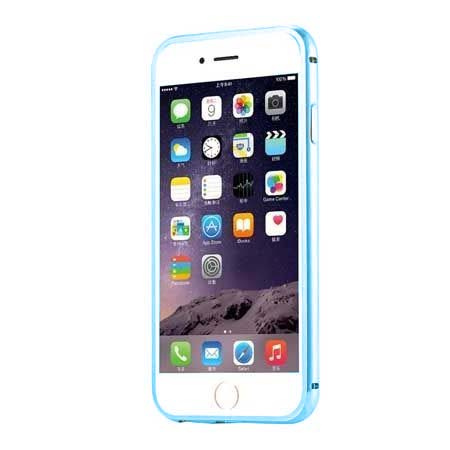 Bumper case na iPhone 6 / 6s - niebieski