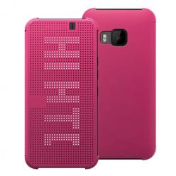 HTC One M9 - etui Flip Dot View z klapką - Różowy.