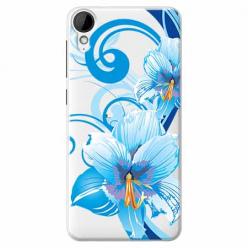 Etui na HTC Desire 825 - Niebieski kwiat północy.
