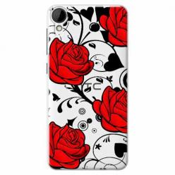 Etui na HTC Desire 825 - Czerwone róże.