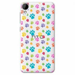 Etui na HTC Desire 825 - Kolorowe psie łapki.