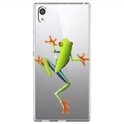 Etui na Sony Xperia E5 - Zielona żabka.