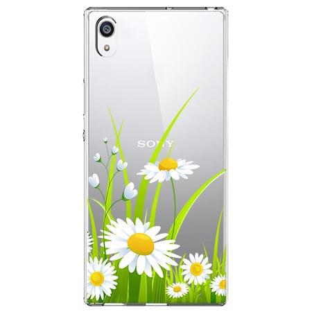Etui na Sony Xperia E5 - Polne stokrotki.