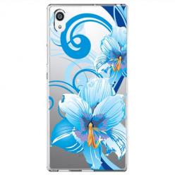 Etui na Sony Xperia E5 - Niebieski kwiat północy.