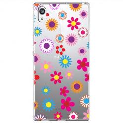 Etui na Sony Xperia E5 - Kolorowe stokrotki.