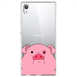 Etui na Sony Xperia E5 - Słodka różowa świnka.