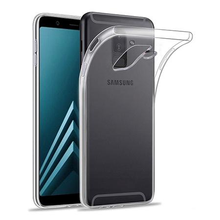 Etui na Samsung Galaxy A6 Plus 2018 - silikonowe, przezroczyste crystal case.