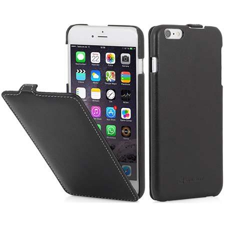 Stilgut iPhone 6 Plus Ultraslim skórzane etui - Czarny