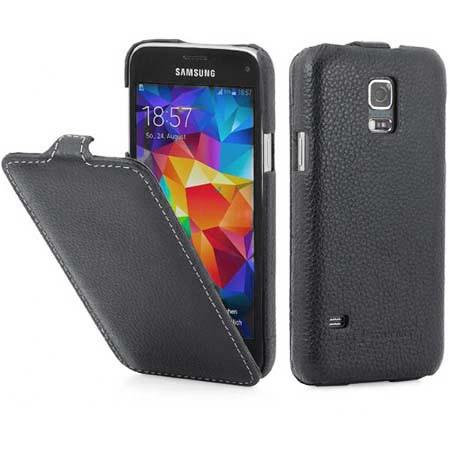 Pokrowiec na Galaxy S5 mini Stilgut Ultraslim skóra - Czarny