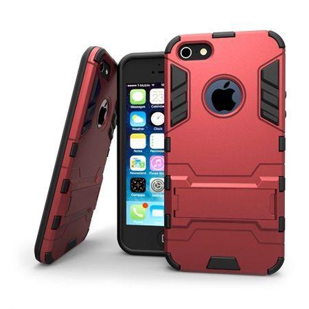 Pancerne etui na iPhone SE - Czerwony