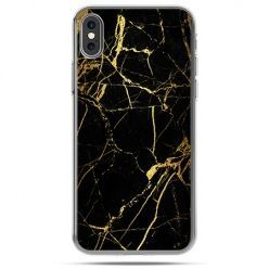 Etui na telefon iPhone XS - złoty marmur
