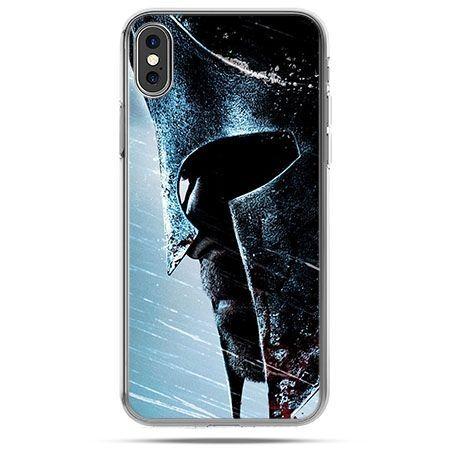 Etui na telefon iPhone XS - hełm Spartan
