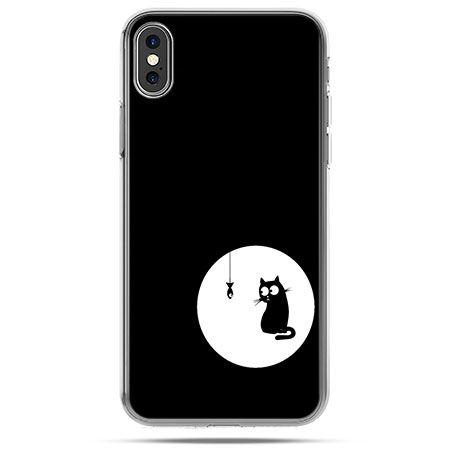 Etui na telefon iPhone XS - kotek