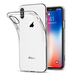 Etui na iPhone XS Max - silikonowe, przezroczyste crystal case.