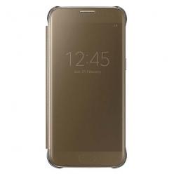 Oryginalne etui na Samsung Galaxy S7 - Clear View Złoty