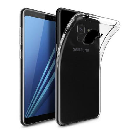 Etui na Samsung Galaxy A8 2018 - silikonowe, przezroczyste crystal case.