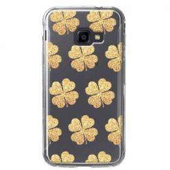 Etui na Samsung Galaxy Xcover 4 - Złote koniczynki