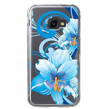 Etui na Samsung Galaxy Xcover 4 - Niebieski kwiat północy.