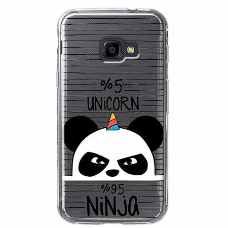 Etui na Samsung Galaxy Xcover 4 - Ninja Unicorn - Jednorożec.