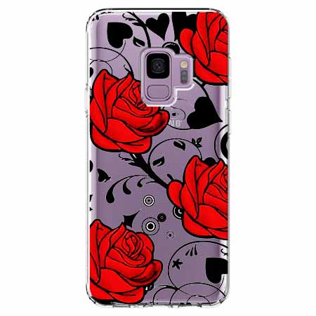 Etui na Samsung Galaxy S9 - Czerwone róże.