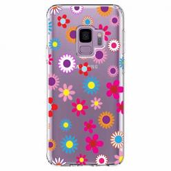 Etui na Samsung Galaxy S9 - Kolorowe stokrotki.
