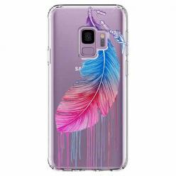 Etui na Samsung Galaxy S9 - Watercolor piórko.