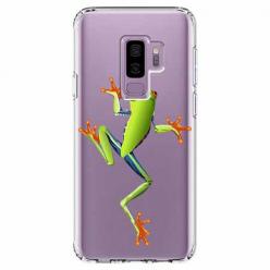 Etui na Samsung Galaxy S9 Plus - Zielona żabka.
